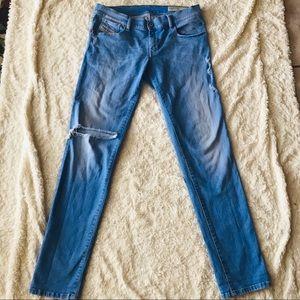 Diesel Distressed Slim Skinny Destroyed Knee Jeans
